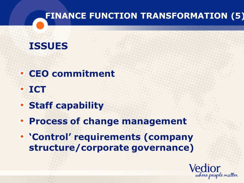 FINANCE FUNCTION TRANSFORMATION (5)