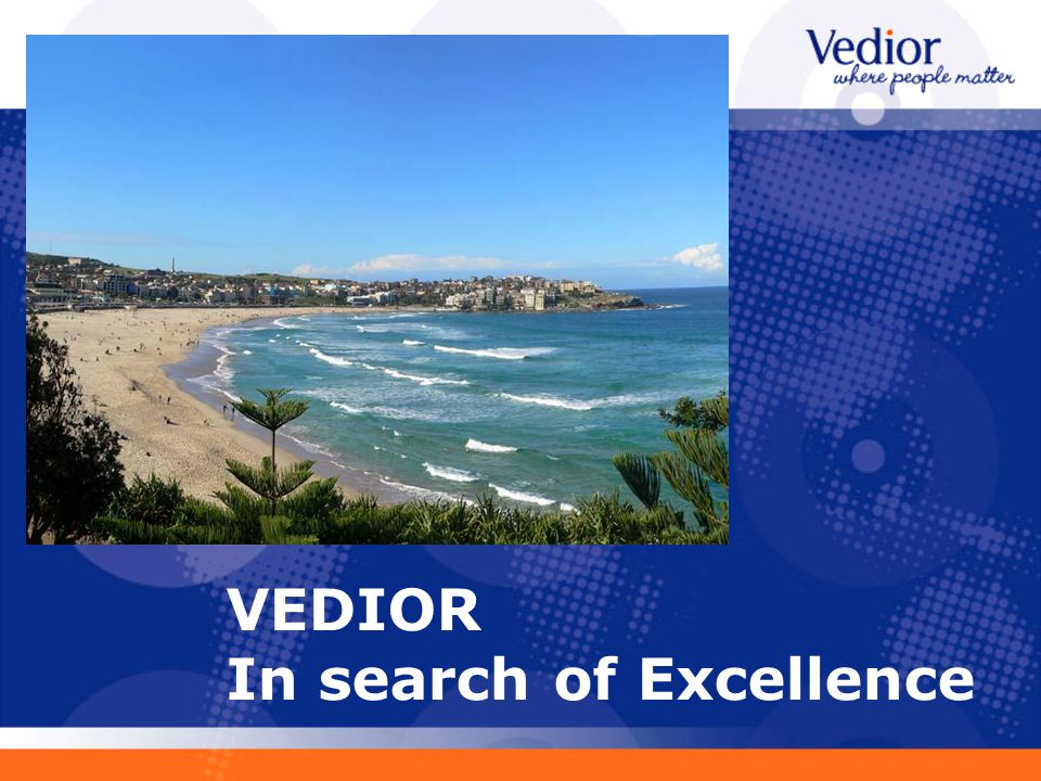 VEDIOR In search of Excellence