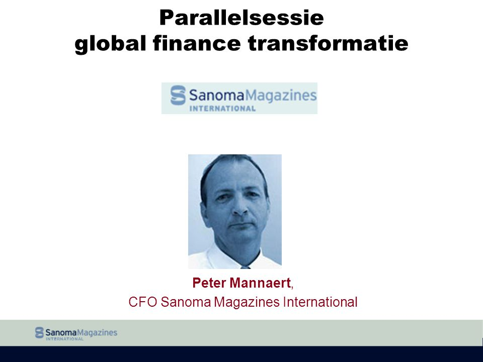 Parallelsessie global finance transformatie