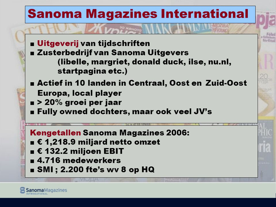 Sanoma Magazines International