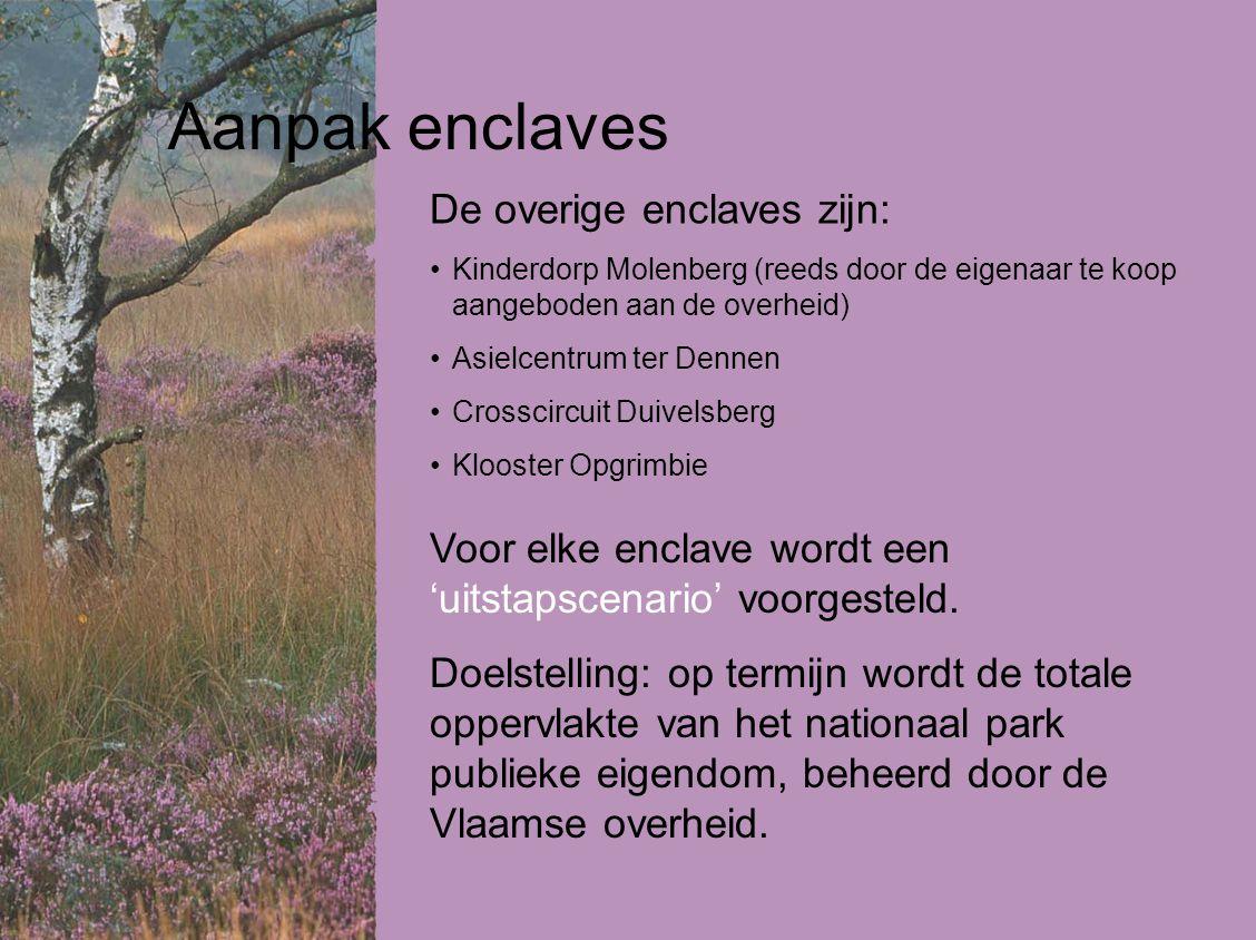 Aanpak enclaves De overige enclaves zijn: