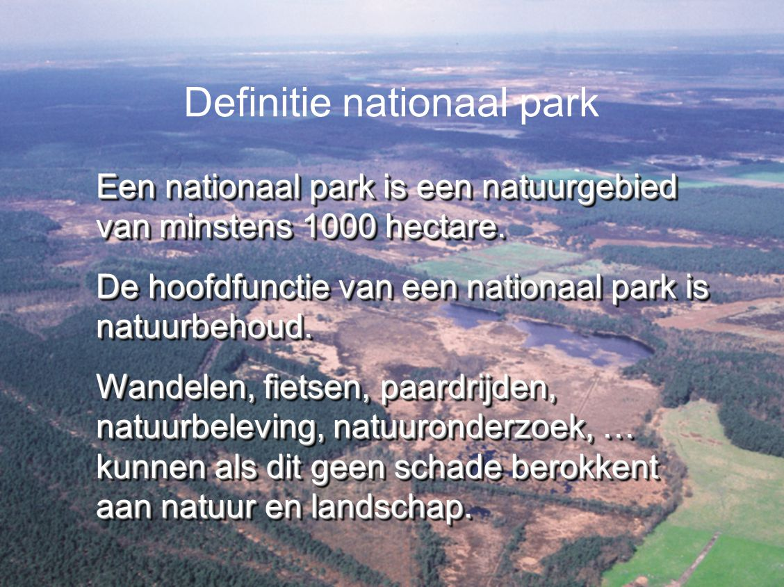 Definitie nationaal park