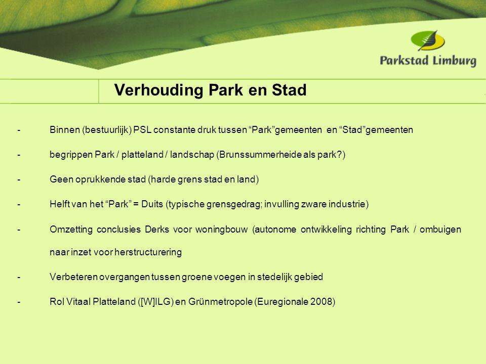 Verhouding Park en Stad