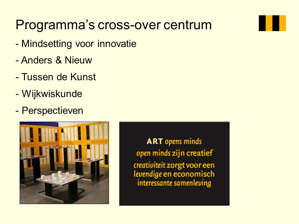 Programma's cross-over centrum