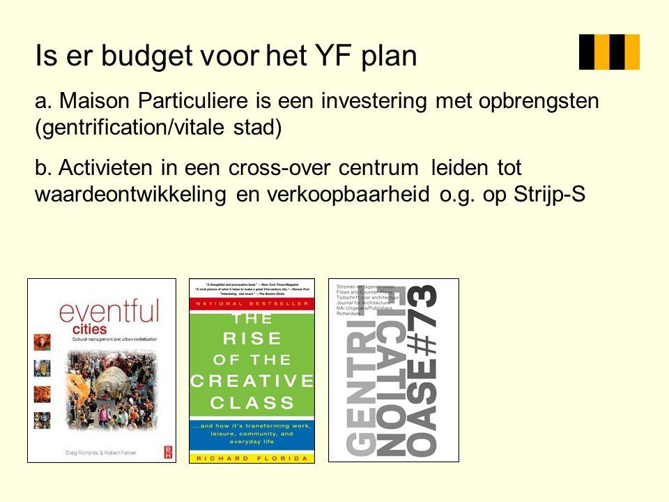 Is er budget voor het YF plan