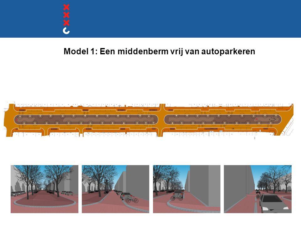 Model 1: Een middenberm vrij van autoparkeren