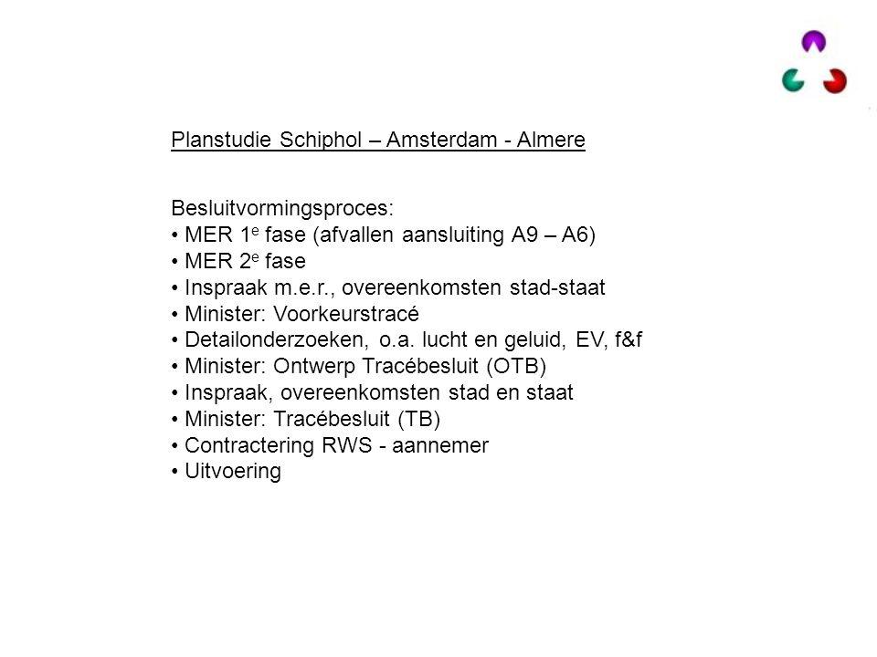 Planstudie Schiphol – Amsterdam - Almere