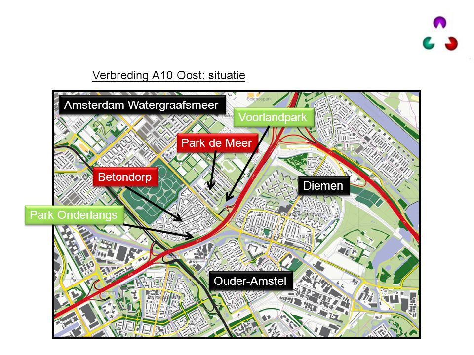 Verbreding A10 Oost: situatie