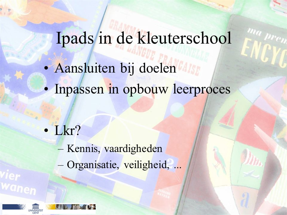 Ipads in de kleuterschool
