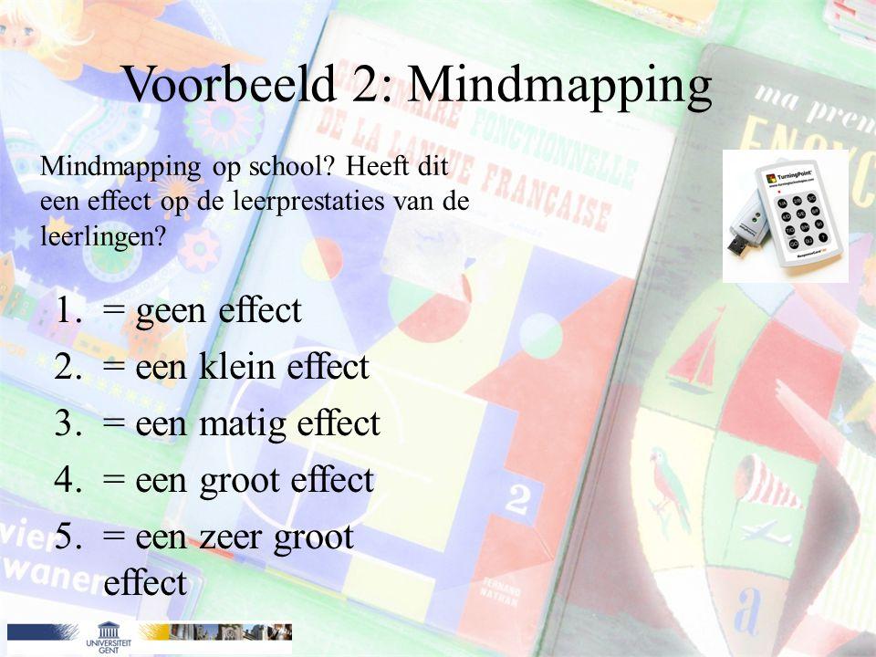Voorbeeld 2: Mindmapping