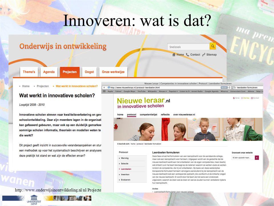 Innoveren: wat is dat.