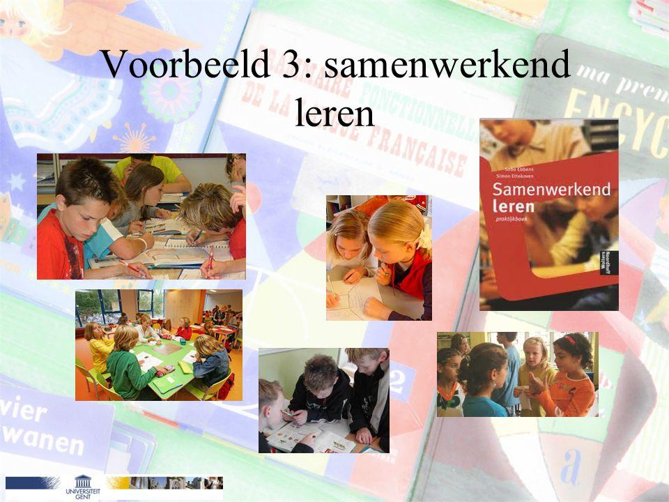 Voorbeeld 3: samenwerkend leren
