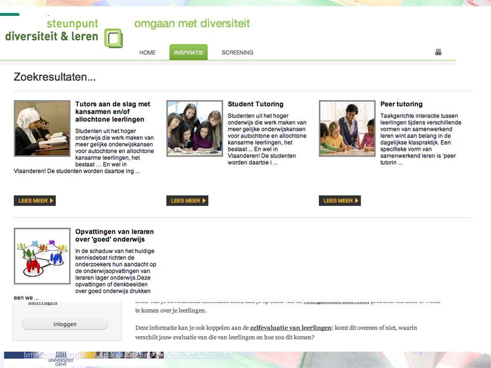 http://onderwijs.nieuwsbrief.khk.be/index.php q=node/100 http://screening.steunpuntdiversiteitenleren.be/inspiraties/leerling/leren-van-elkaar.