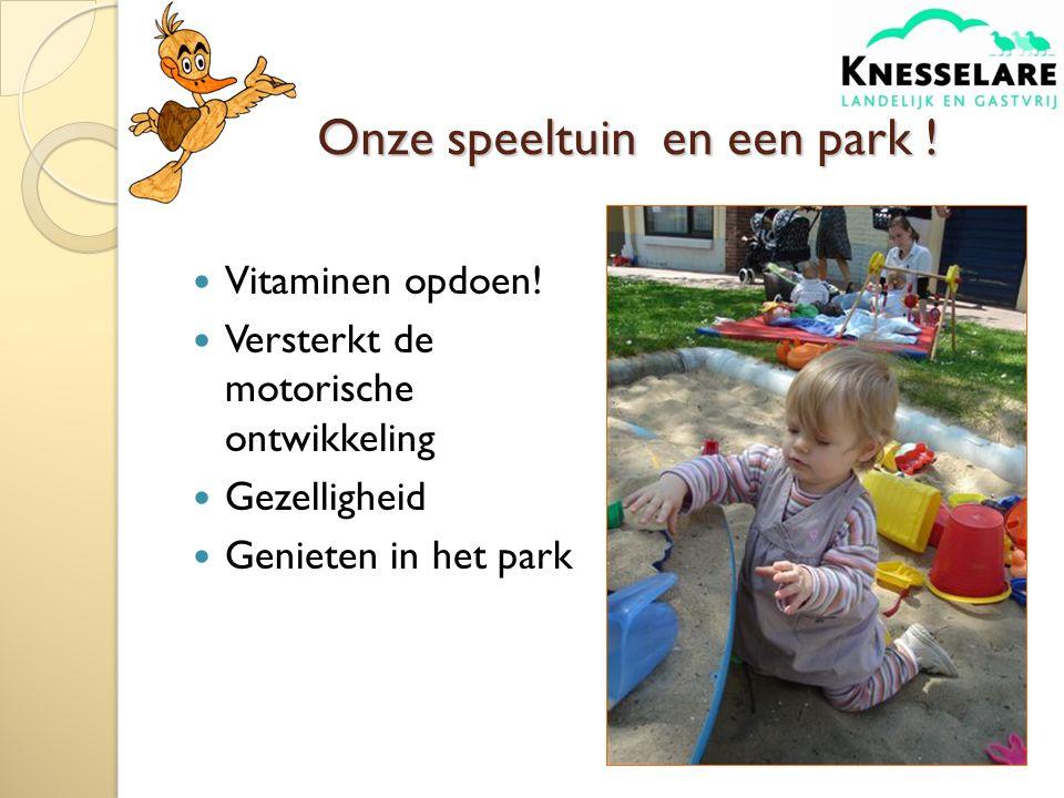 Onze speeltuin en een park !