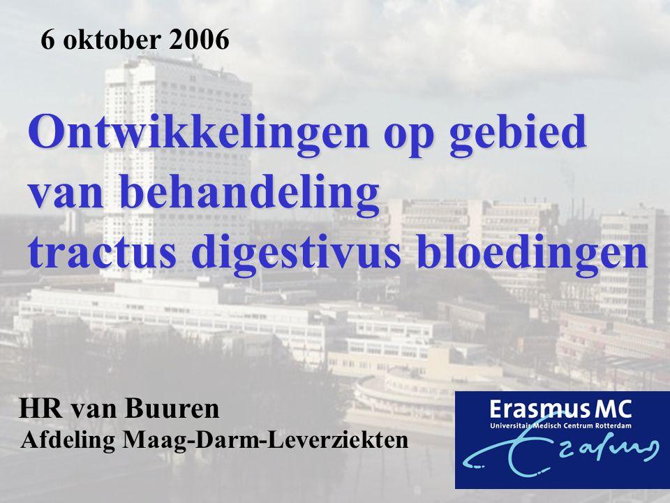 Ontwikkelingen op gebied van behandeling tractus digestivus bloedingen