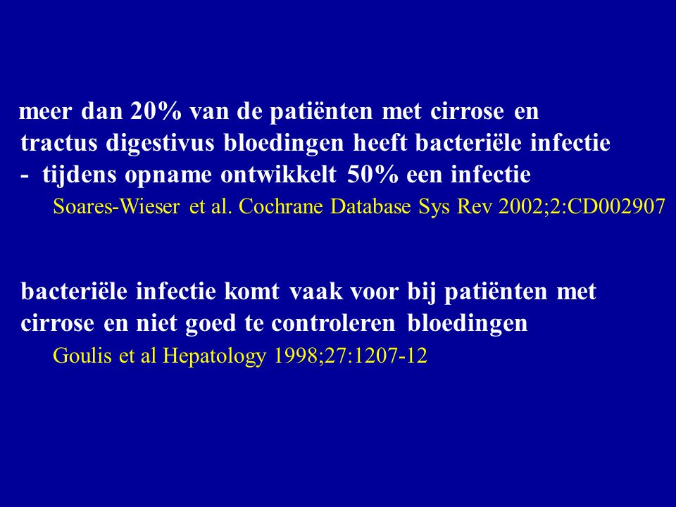 tractus digestivus bloedingen heeft bacteriële infectie