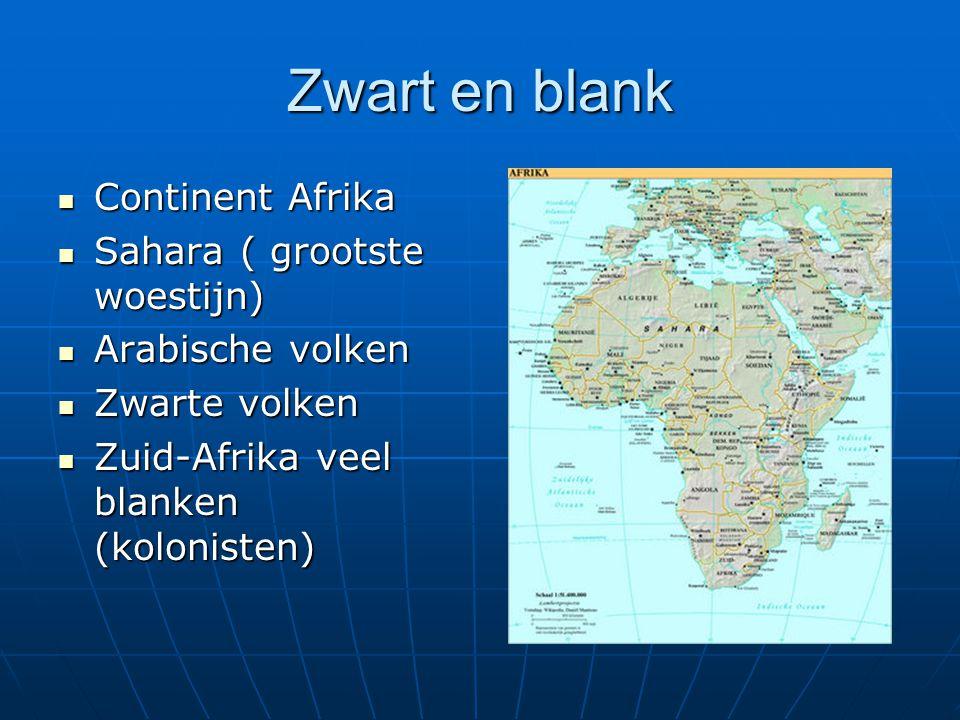 Zwart en blank Continent Afrika Sahara ( grootste woestijn)