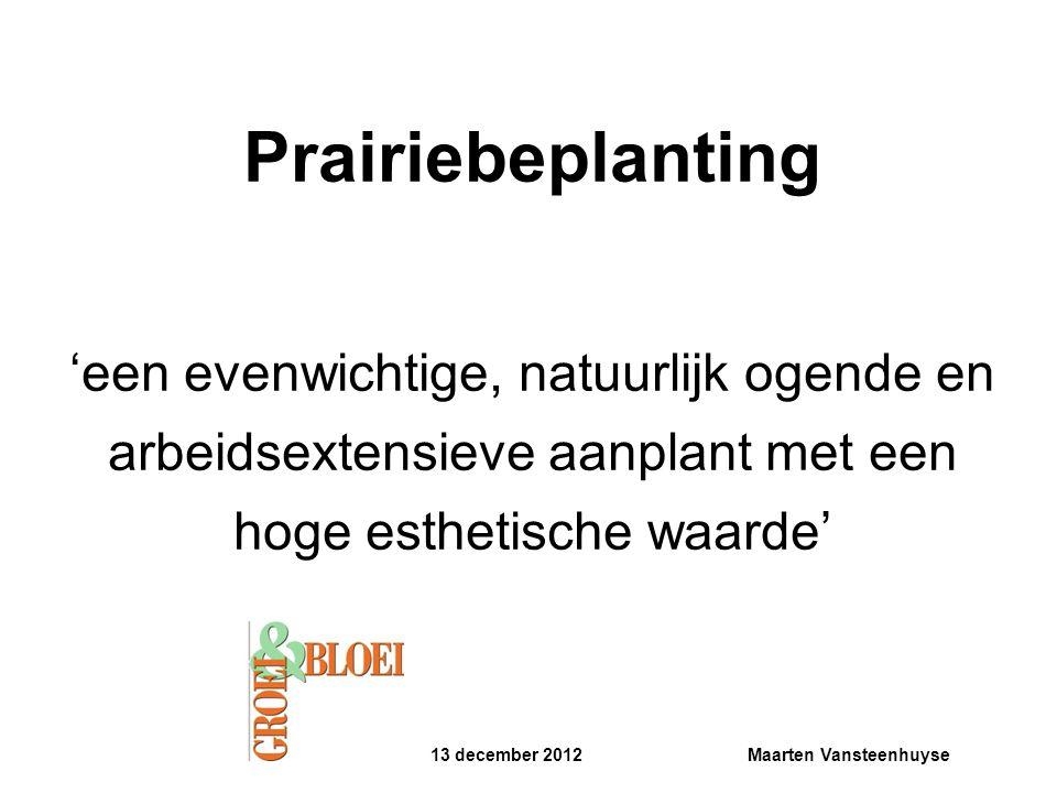 Prairiebeplanting 'een evenwichtige, natuurlijk ogende en arbeidsextensieve aanplant met een hoge esthetische waarde'
