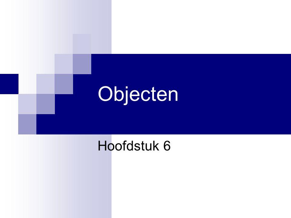 Objecten Hoofdstuk 6 Hoofdstuk 6 Hoofdstuk 6 1
