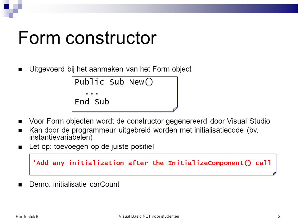 Visual Basic.NET voor studenten