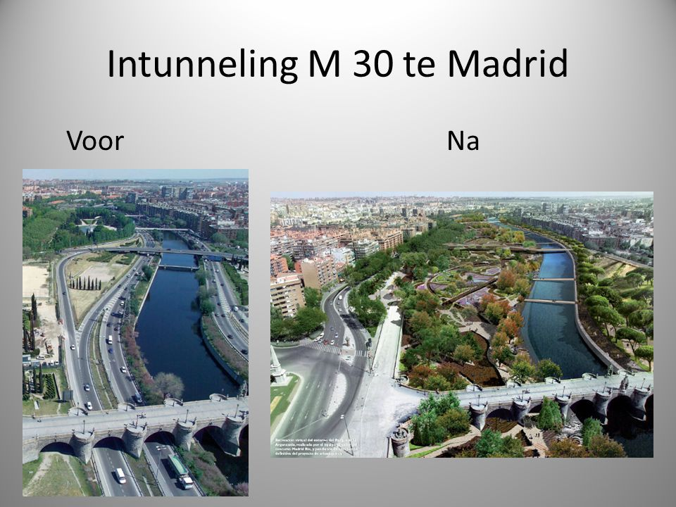 Intunneling M 30 te Madrid