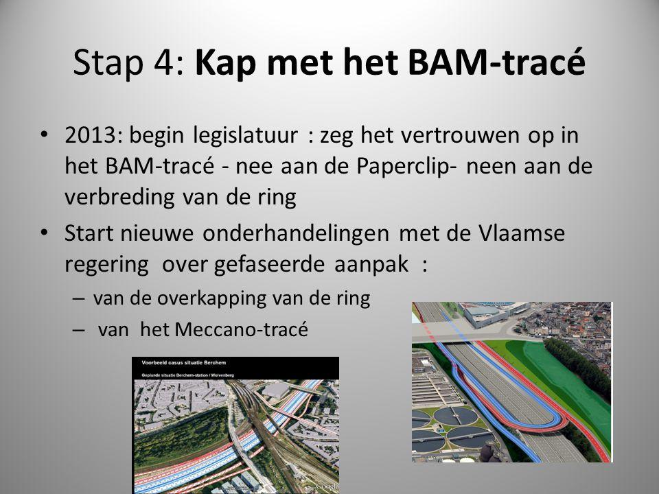Stap 4: Kap met het BAM-tracé