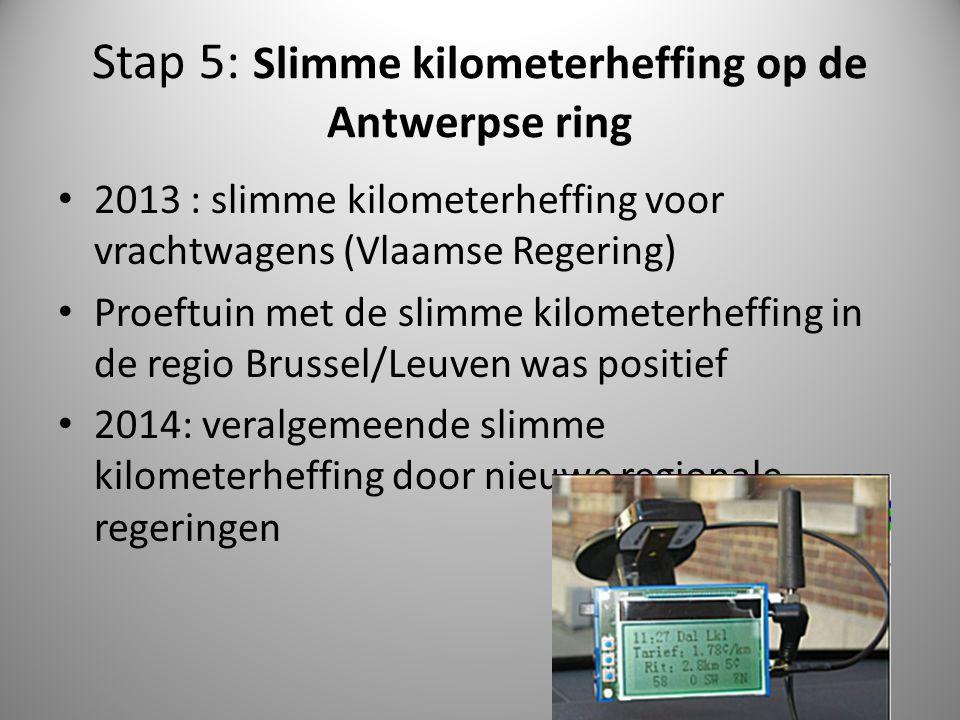 Stap 5: Slimme kilometerheffing op de Antwerpse ring
