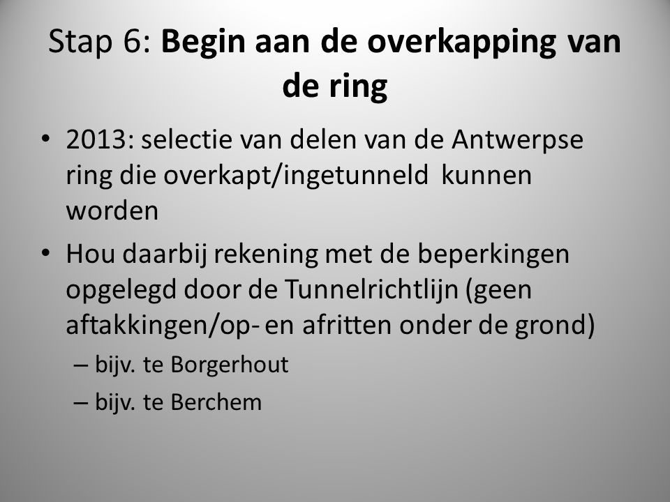 Stap 6: Begin aan de overkapping van de ring