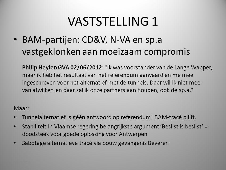 VASTSTELLING 1 BAM-partijen: CD&V, N-VA en sp.a vastgeklonken aan moeizaam compromis.