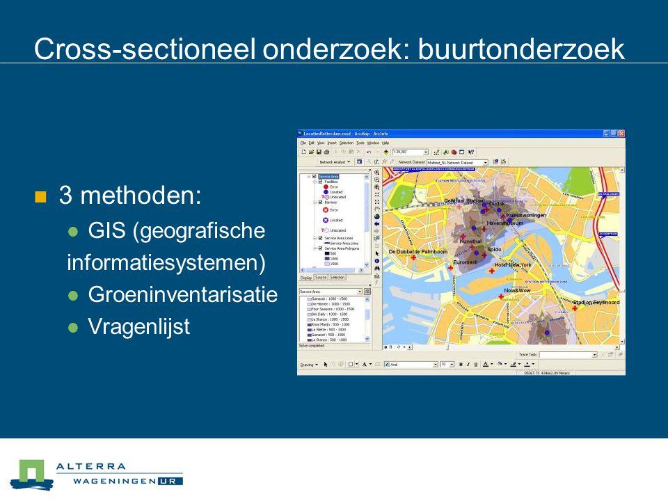 Cross-sectioneel onderzoek: buurtonderzoek