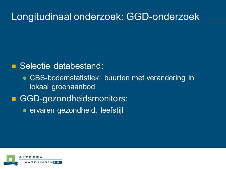 Longitudinaal onderzoek: GGD-onderzoek