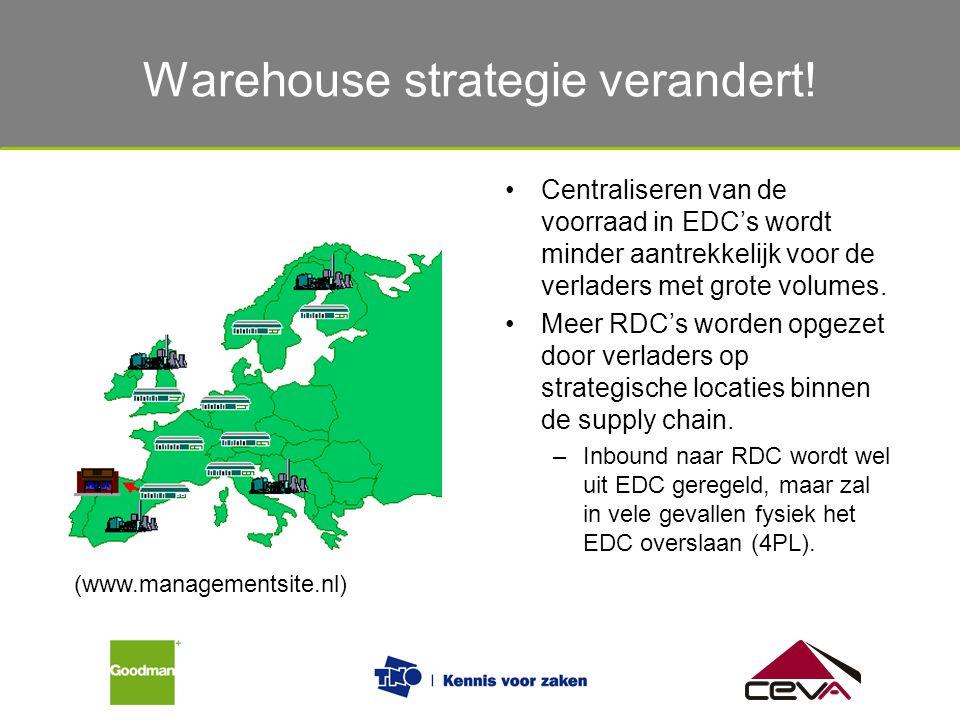 Warehouse strategie verandert!