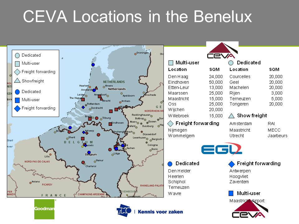 CEVA Locations in the Benelux