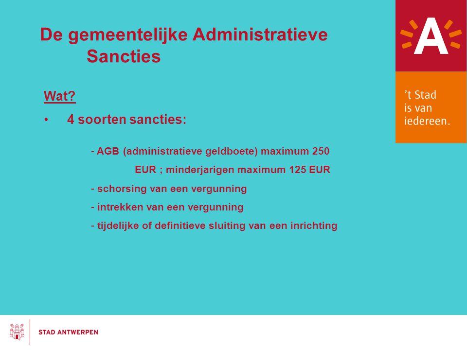 De gemeentelijke Administratieve Sancties