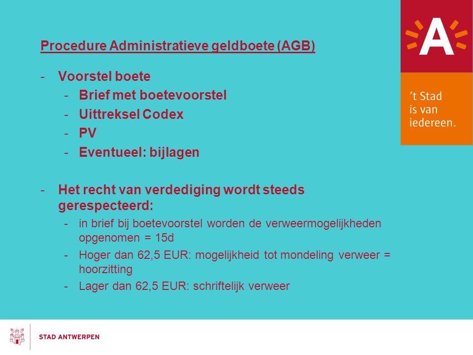 Procedure Administratieve geldboete (AGB)