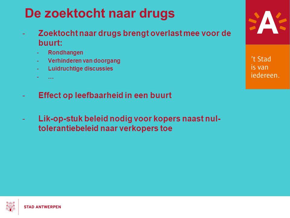 De zoektocht naar drugs