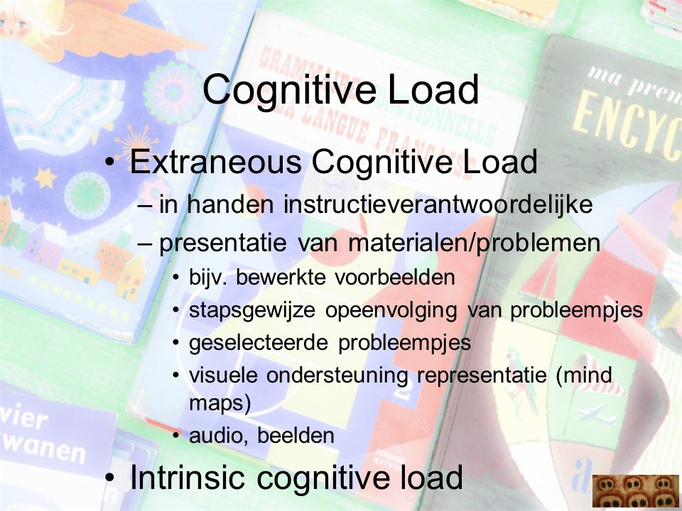 Cognitive Load Extraneous Cognitive Load Intrinsic cognitive load