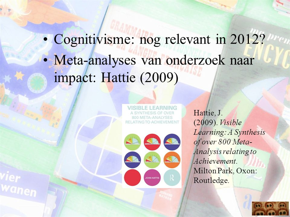 Cognitivisme: nog relevant in 2012