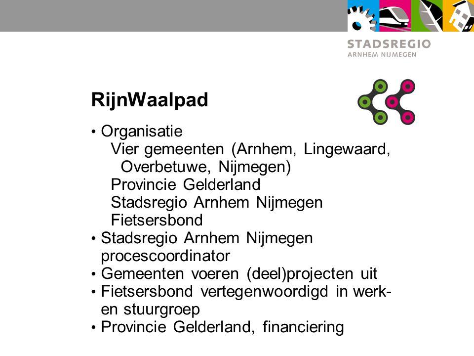 RijnWaalpad Organisatie