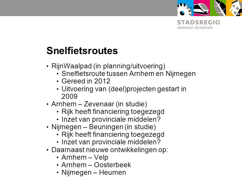Snelfietsroutes RijnWaalpad (in planning/uitvoering)