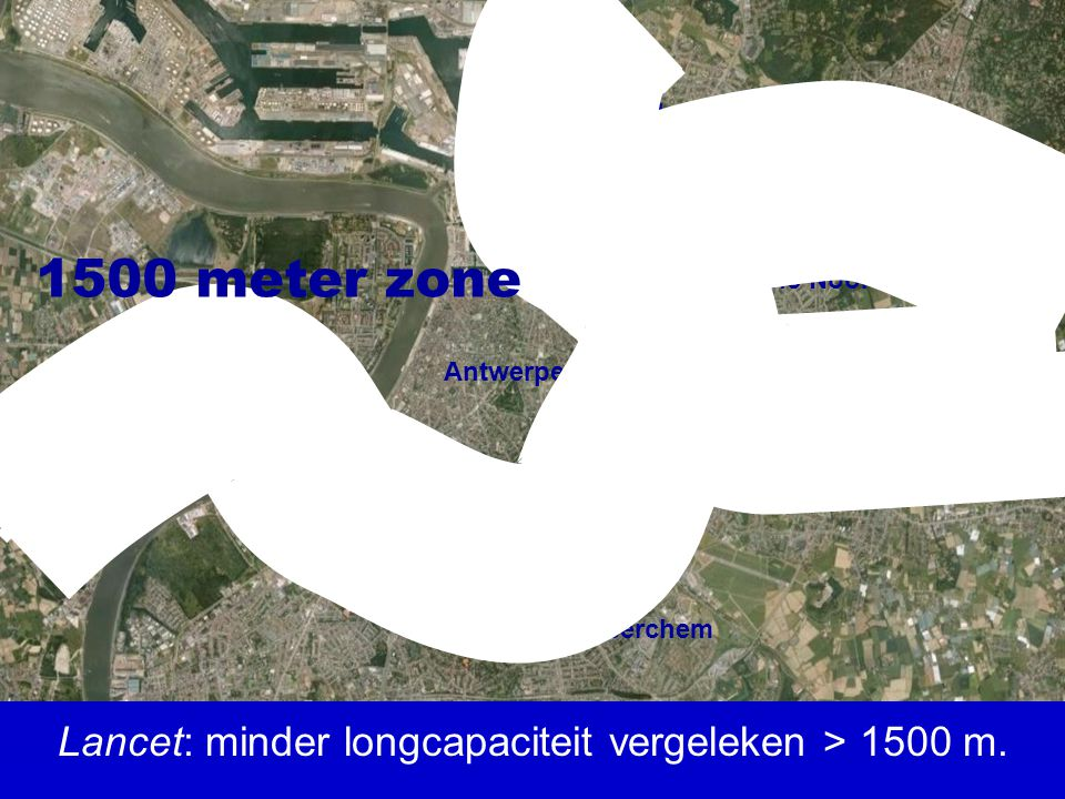 Lancet: minder longcapaciteit vergeleken > 1500 m.