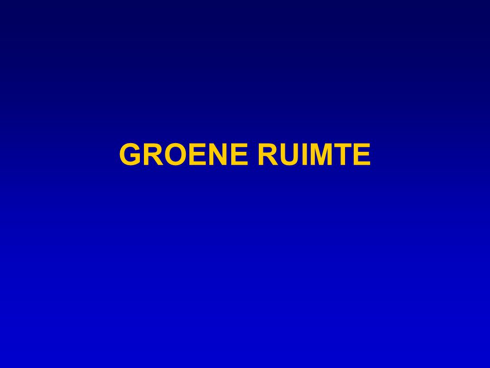 GROENE RUIMTE
