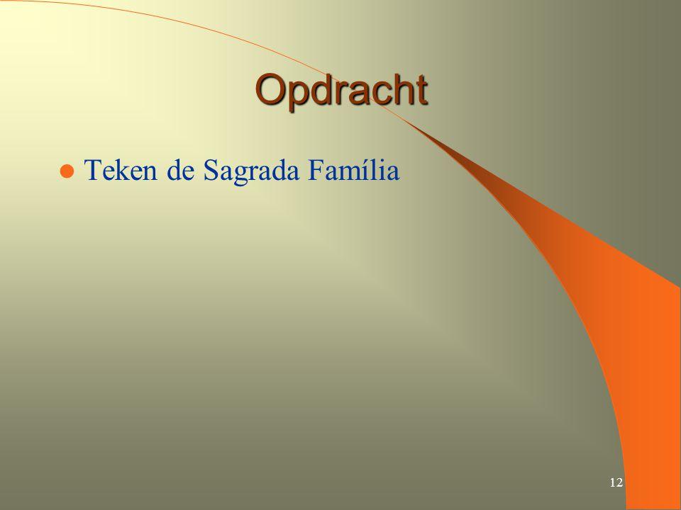 Opdracht Teken de Sagrada Família