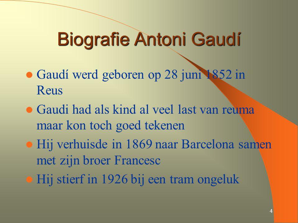 Biografie Antoni Gaudí