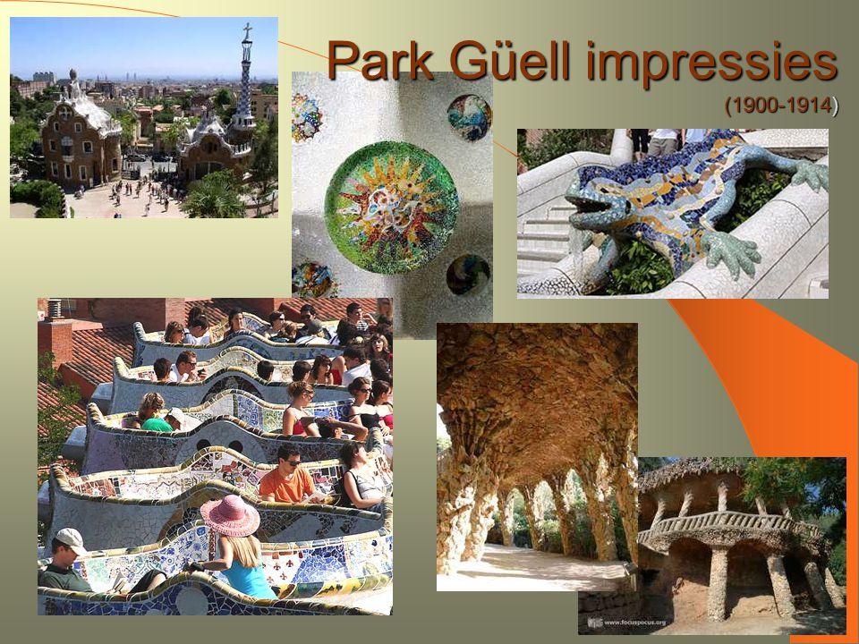 Park Güell impressies (1900-1914)