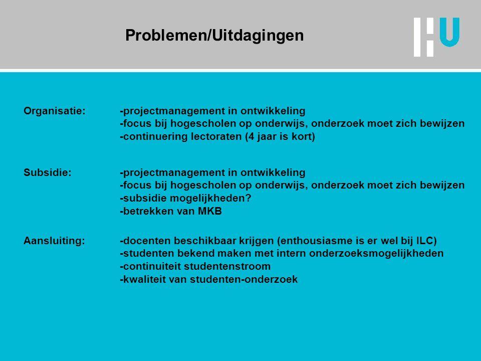Problemen/Uitdagingen