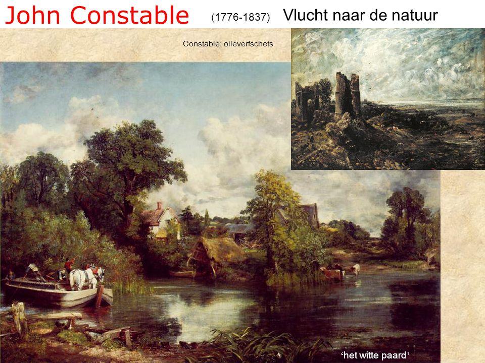 John Constable Vlucht naar de natuur (1776-1837) 'het witte paard'
