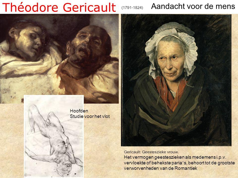 Théodore Gericault Aandacht voor de mens Hoofden Studie voor het vlot