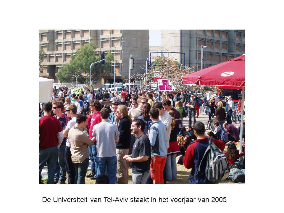 De Universiteit van Tel-Aviv staakt in het voorjaar van 2005