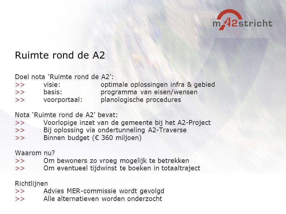 Ruimte rond de A2 Doel nota 'Ruimte rond de A2':
